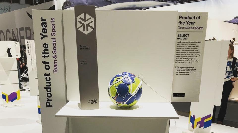 Гандбольний м'яч Select Maxi Grip виграв нагороду ISPO Найкращий продукт 2018 року