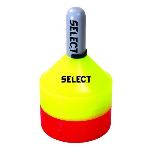 Набір маркерів SELECT Marker set (12 yellow, 12 red  and plastic holder)